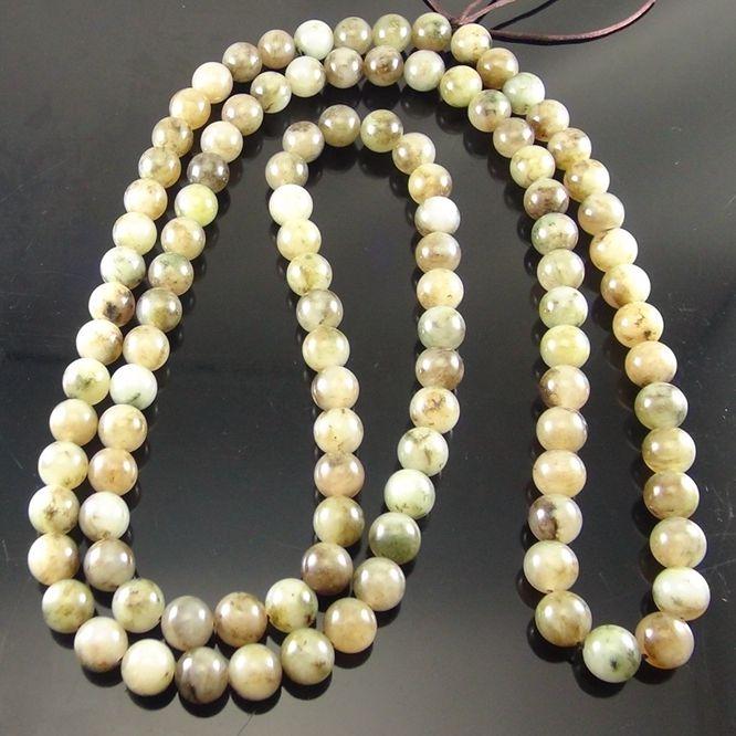 独山玉透水曙色料珠子:直径12MM佛珠圆珠